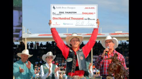 Saddle Bronc Zeke Thurston