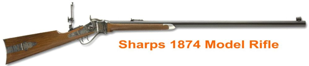slow west Sharps 1874 Model Rifle