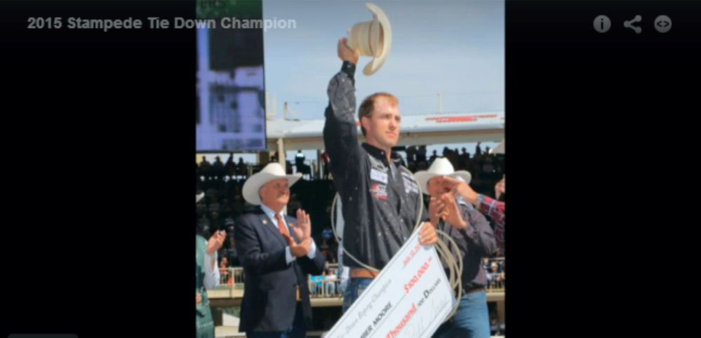 Timber Moore Calf Roping Champ 2