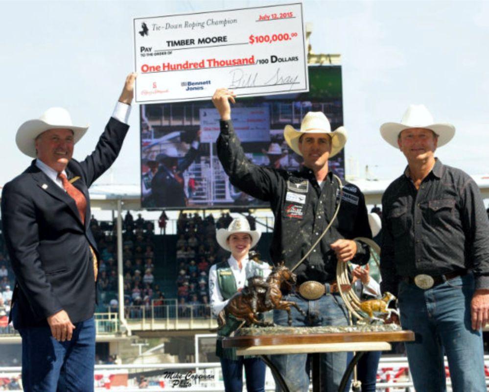 Timber Moore Calf Roping Champ