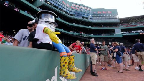 Hitchbot at Fenway BallPark