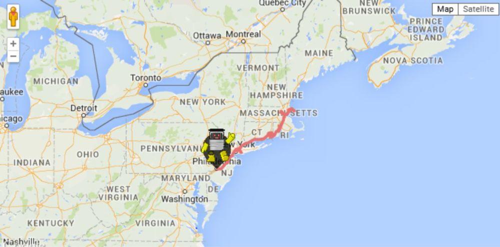 HITCHBOT US MAP