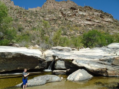 Sabino Canyon dip 2