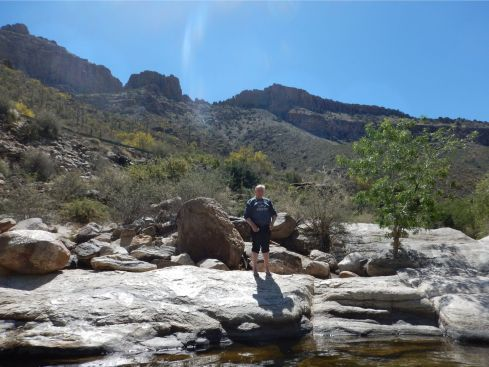 Sabino Canyon - loving the water