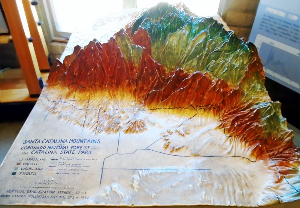 Sabino Canyon topographical map
