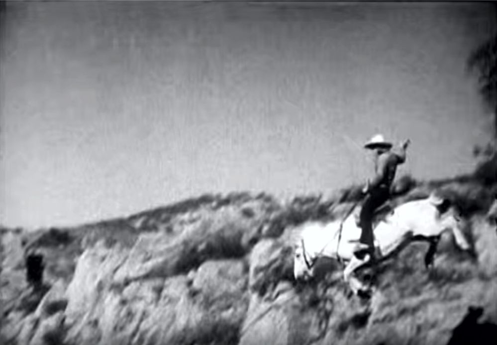 Buck Jones old time stunt