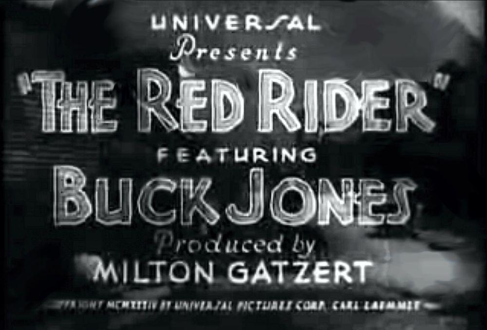 Buck Jones Red Rider title banner
