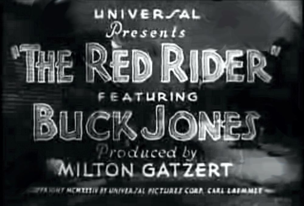 Buck Jones Red Rider title banner