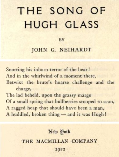 from A Song of Hugh Glass