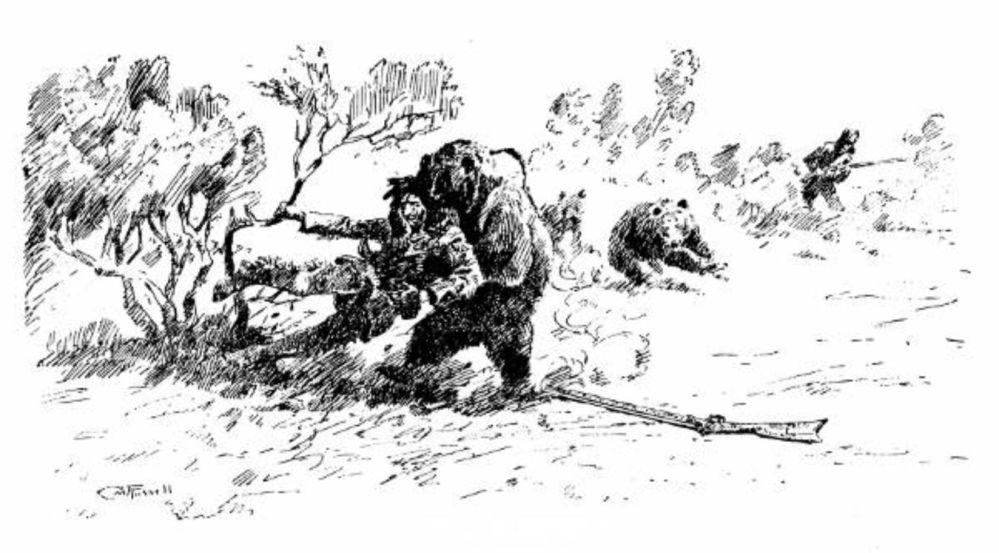Hugh Glass - Charles M. Russell sketch