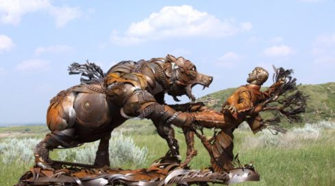 Hugh Glass Sculpture