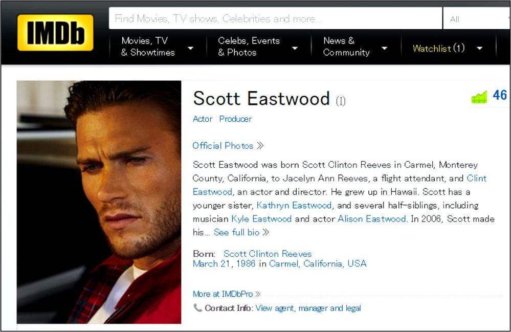 Diablo 2016 Eastwood profile IMDB