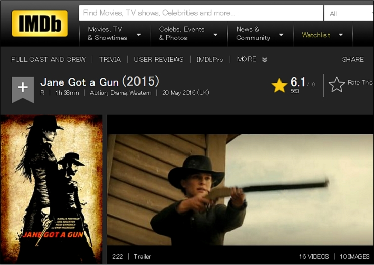 jane got a gun imdb review