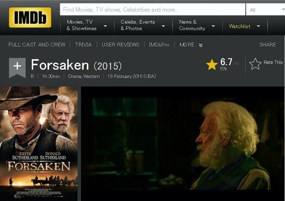 Forsaken IMDB