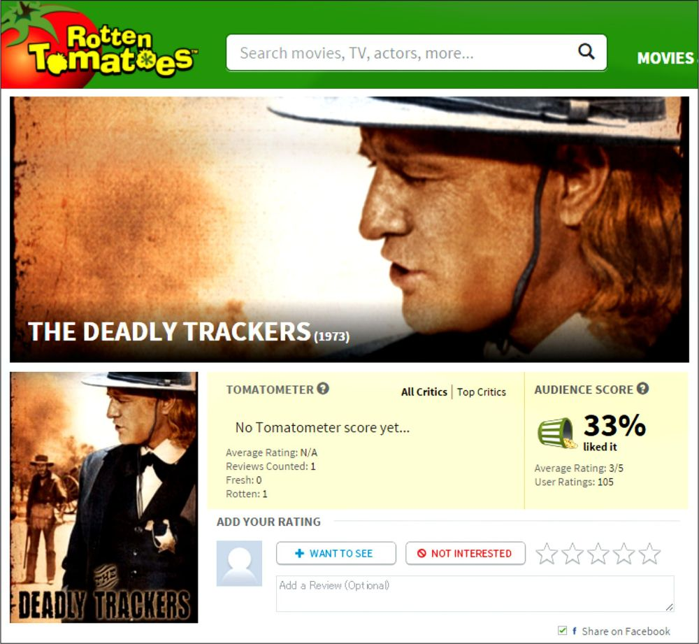 The Deadly Trackers RT