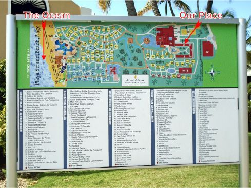 Bavaro Princess Resort Map