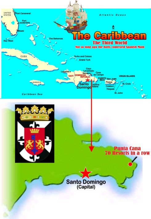 Dominican Carribean Map