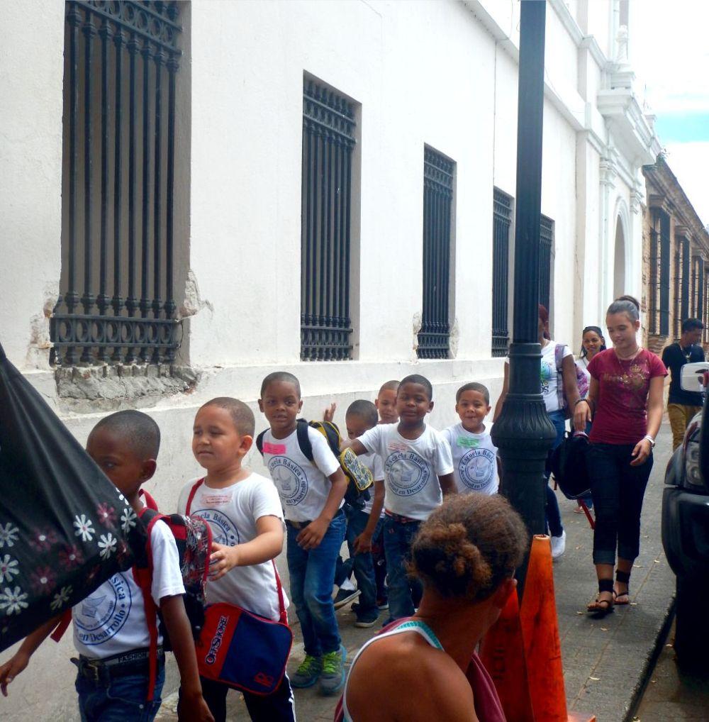 Downtown Santo Domingo kids on day trips