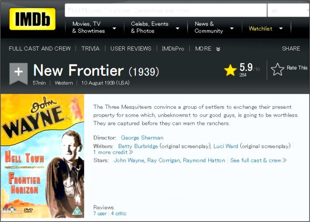 New Frontier IMDB