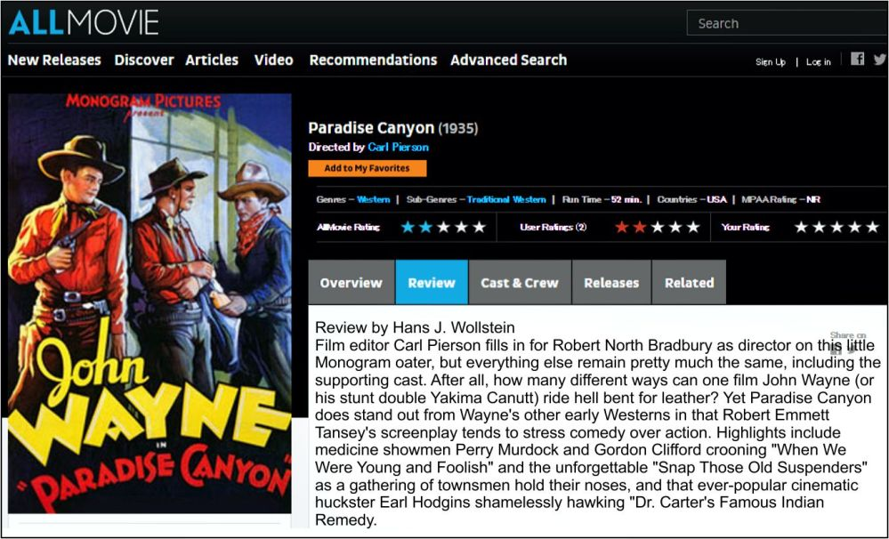 Paradise Canyon All Movie Review