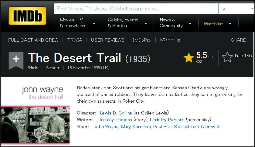 The Desert Trail imdb