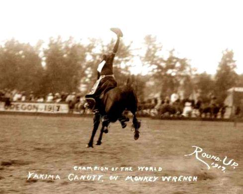 YAKIMA CANUTT saddle bronc