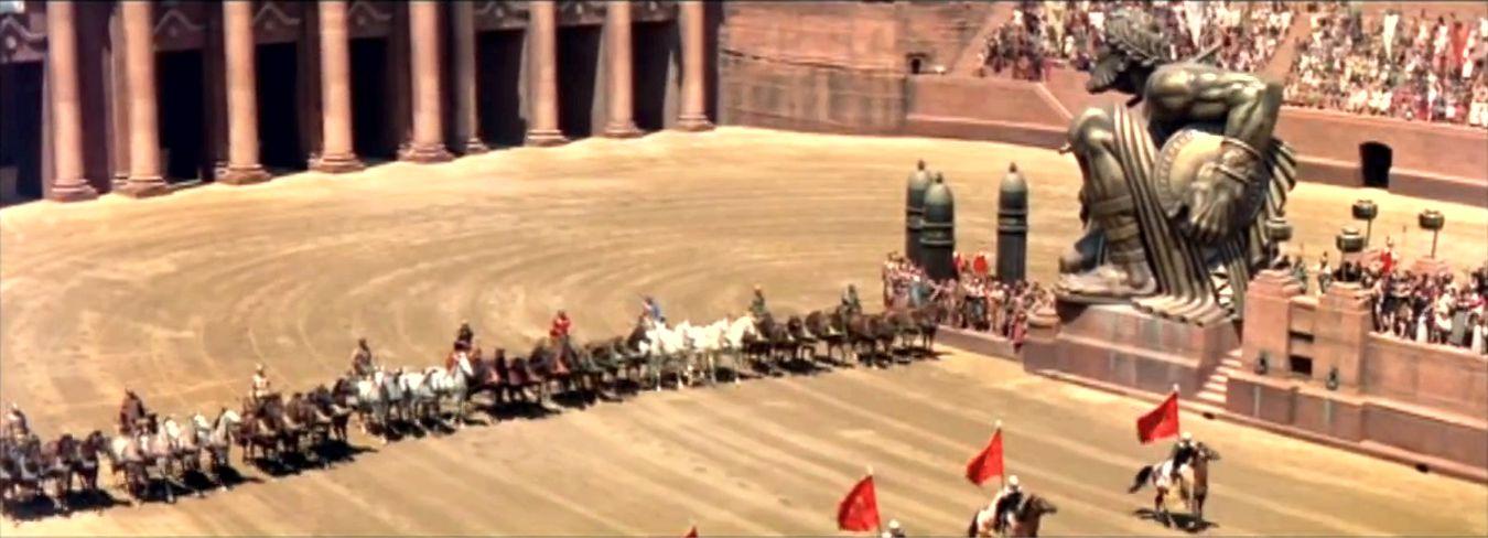 Ben Hur Chariot Race Scene Red Car