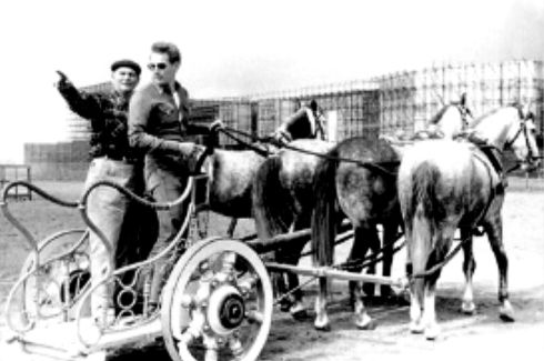 Ben Hur - Yakima Canutt instructing Charleton Heston