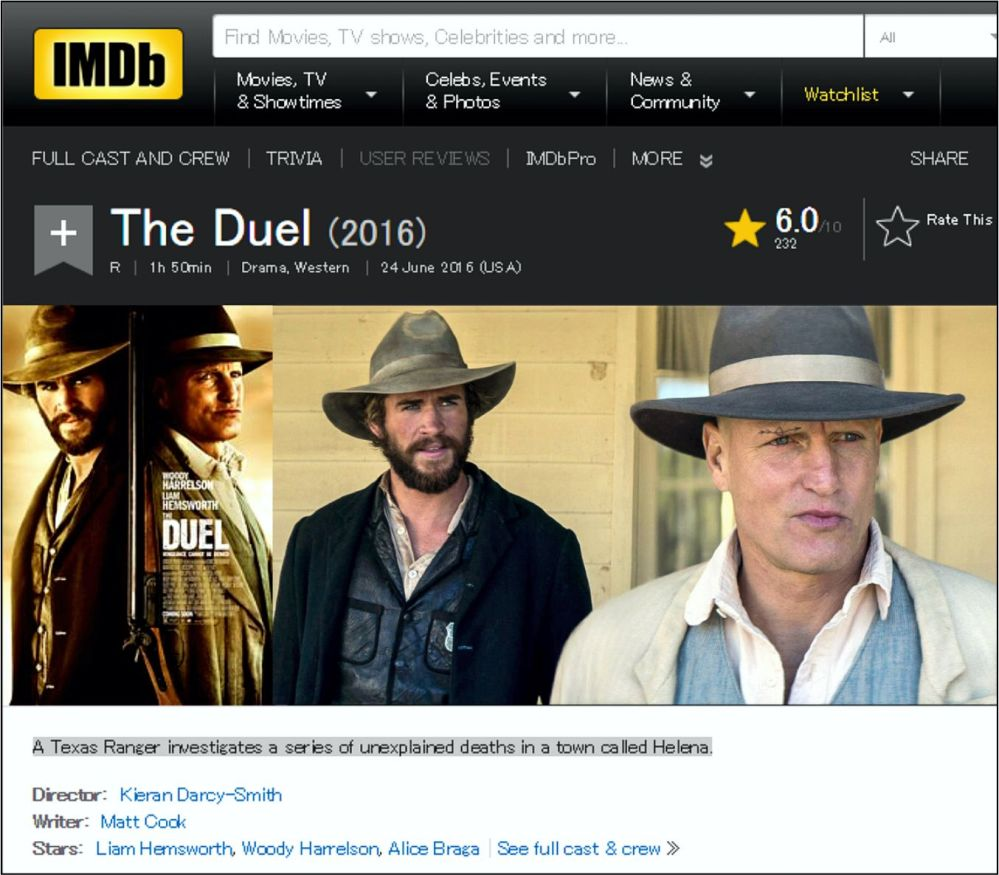 The DUEL 2016 IBDB review