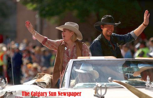 Calgary Stampede Marshalls 2016 Paul Brandt and Jan Arden 2