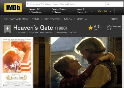 Heaven's Gate IMDB review