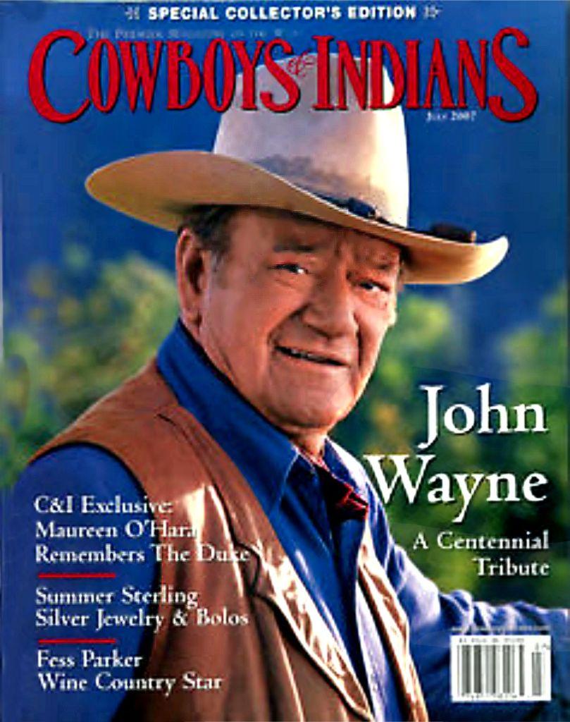 John Wayne Cowboys and Indians Magazine