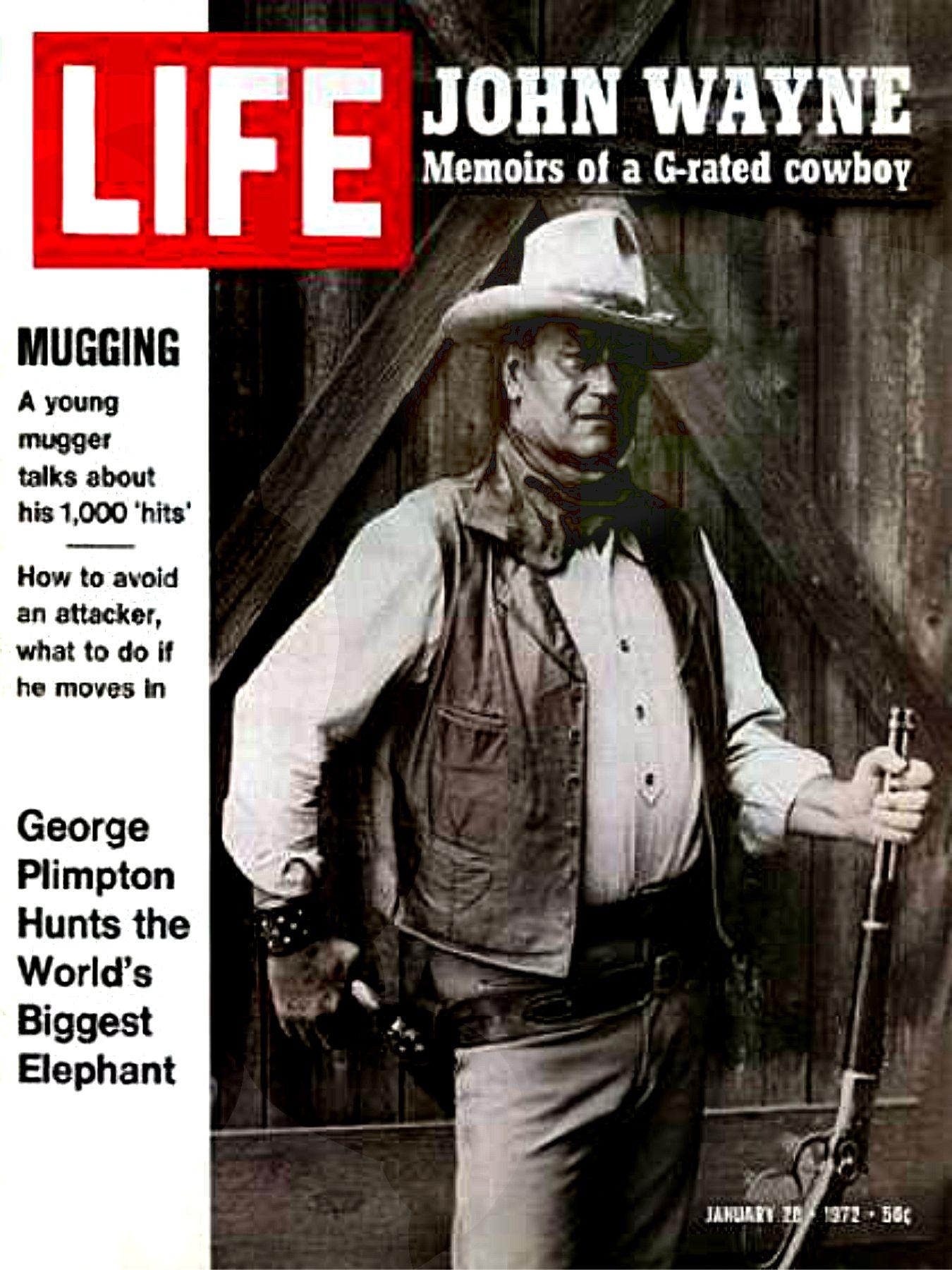 John wayne life and times my favorite westerns john wayne life magazine 2 sciox Choice Image
