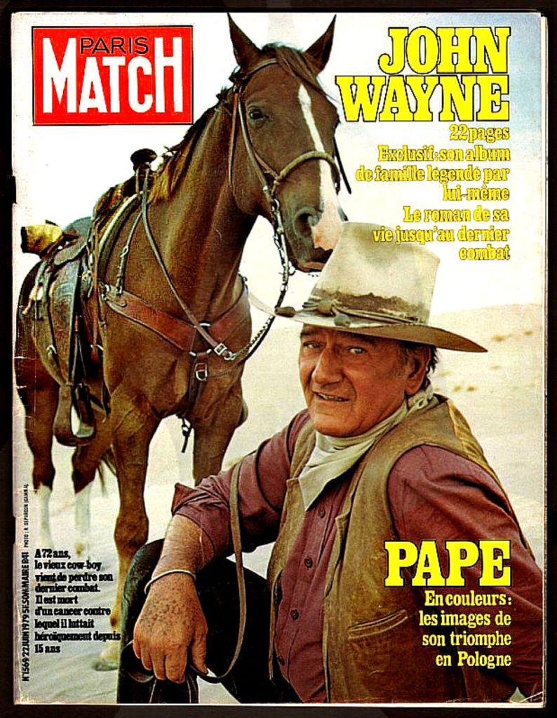 John Wayne Paris Match Magazine