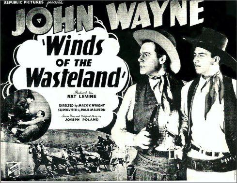John Wayne Iconic Images Winds Of The Wasteland 1936