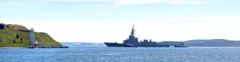 Halifax Harbour - Canadian Frigate