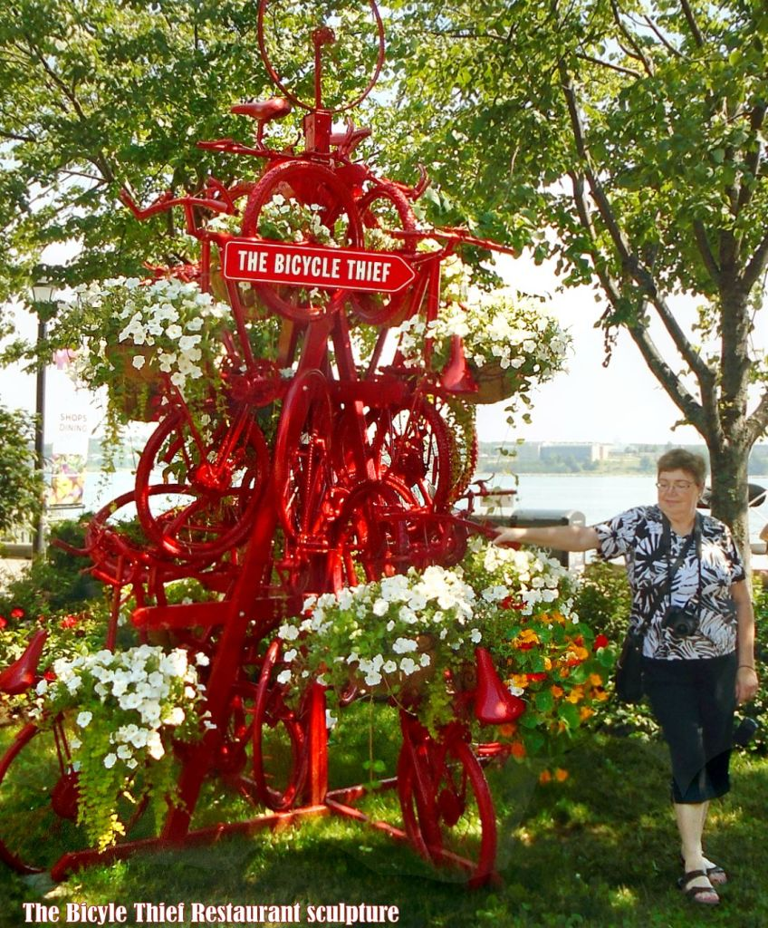 Halifax Harbour - The Bicycle Thief Restaurant sculpture
