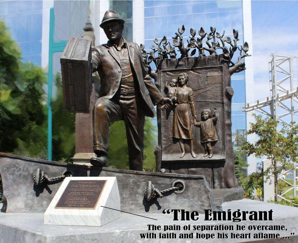 Halifax Harbour - The Emigrant statue