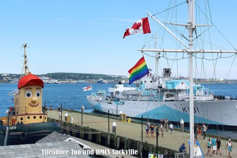 Halifax Harbour - Theodore and HMCS Sackville