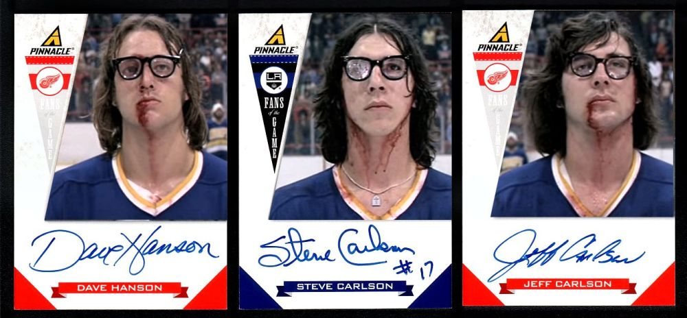 The Hanson Brothers hockey cards 2