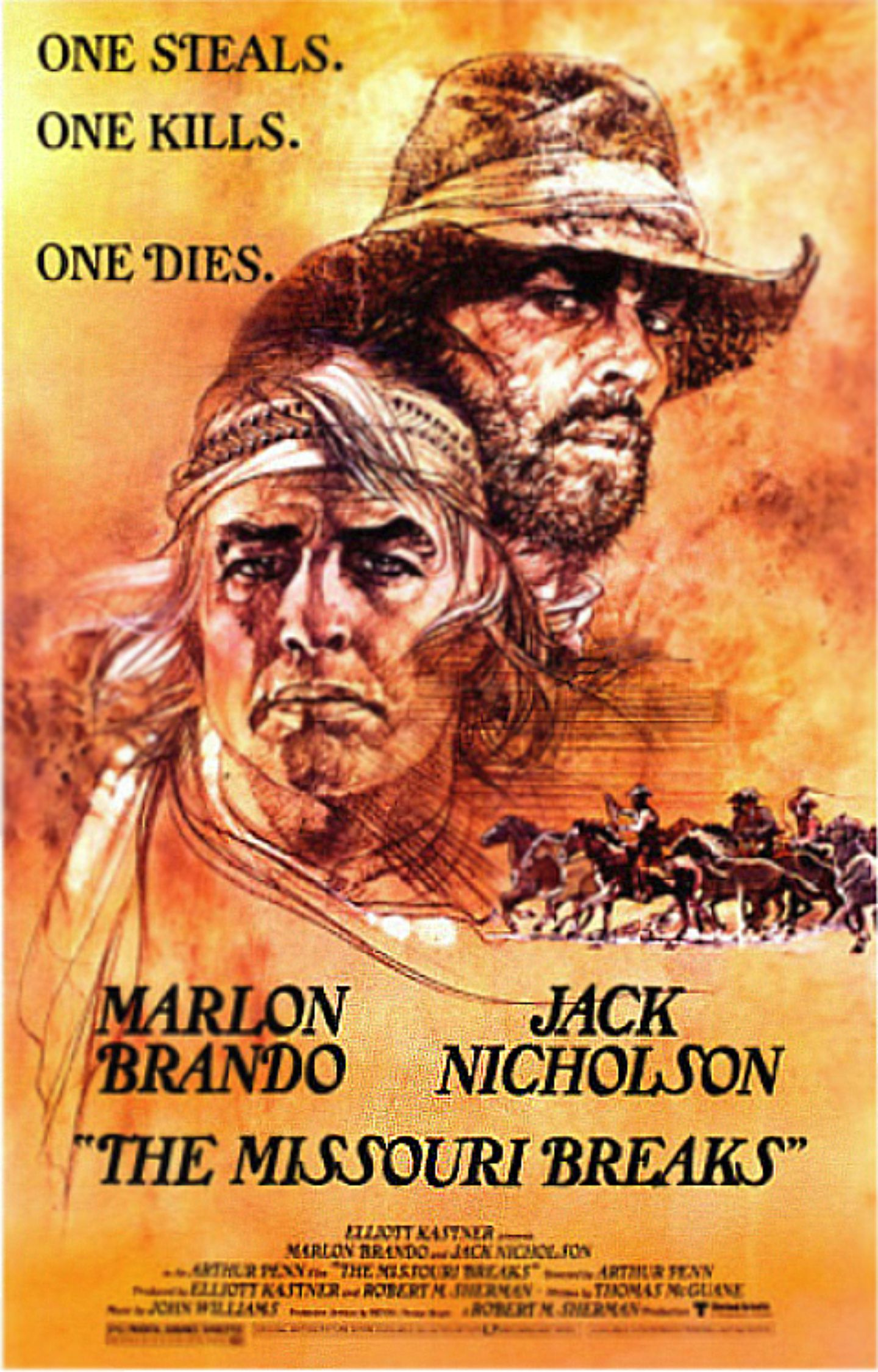 jack nicholson my favorite westerns the missoui breaks poster