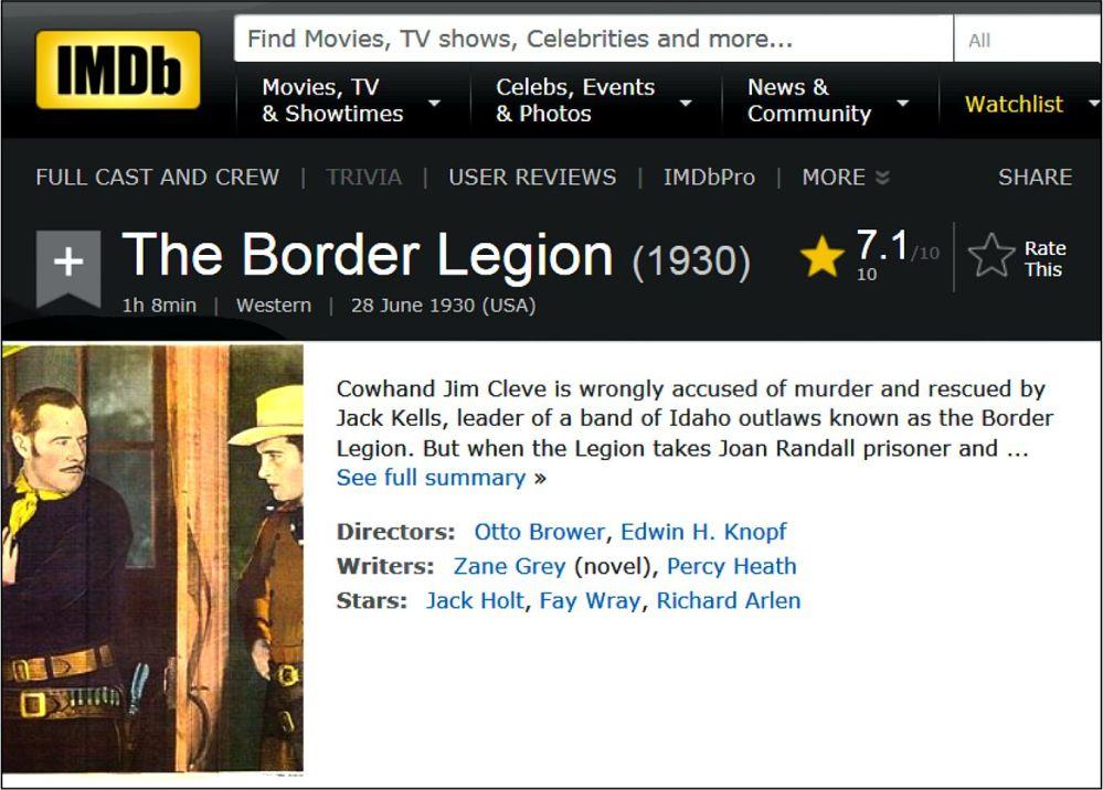 border-legion-1930-imdb-review