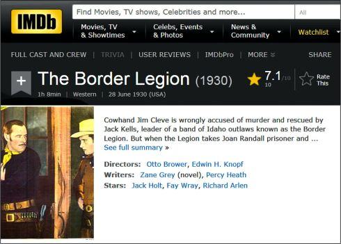 border-legion-1930-imdb-review
