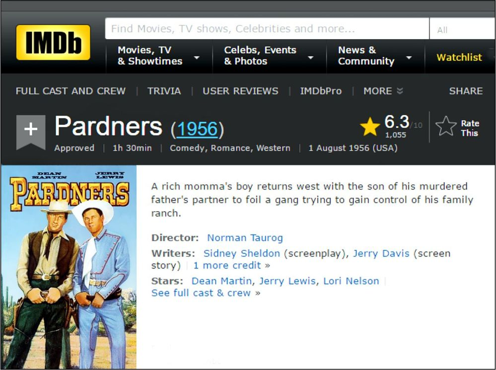 pardners-imbd-review