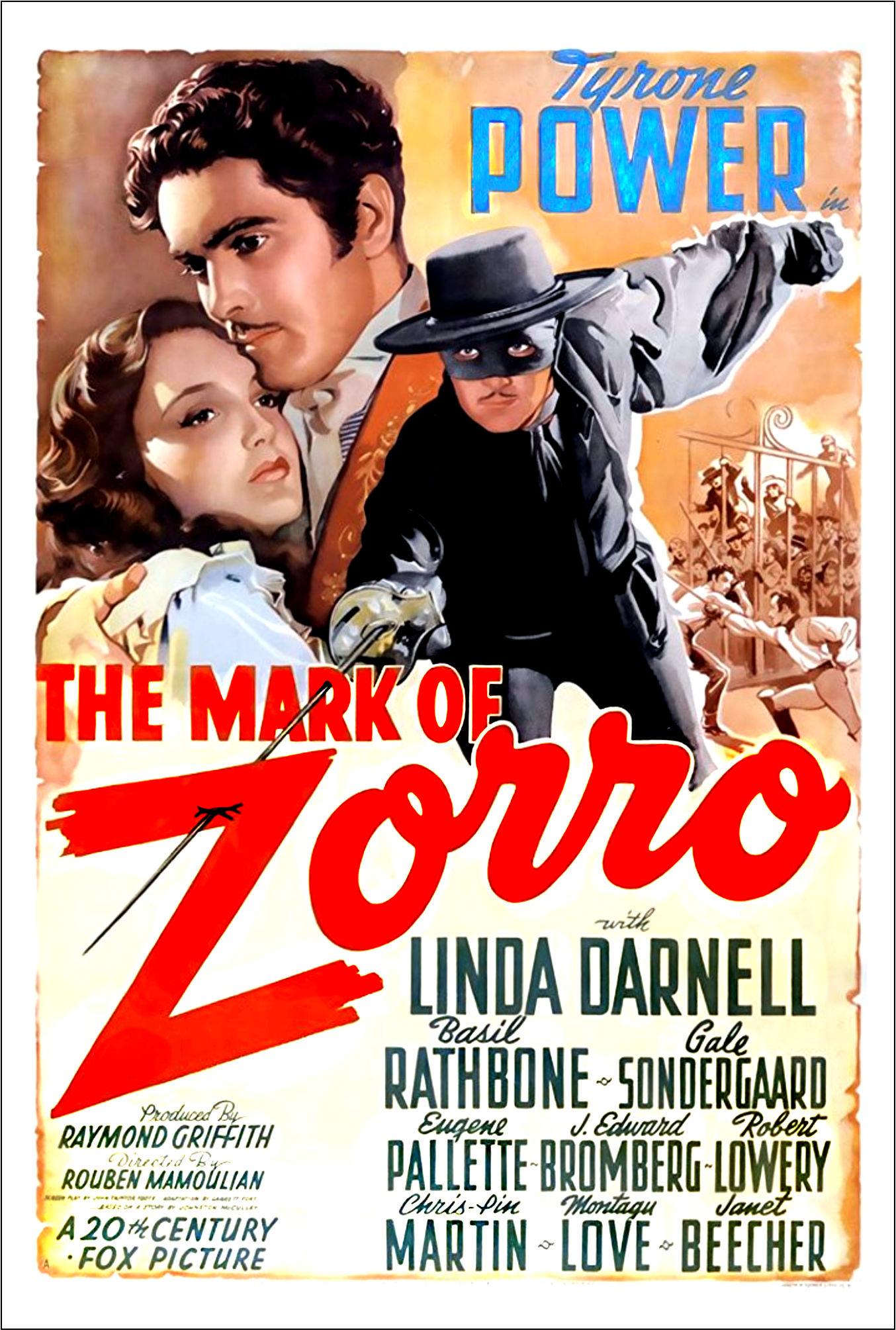 Tyrone Power Westerns continued … The Mark of Zorro (1940