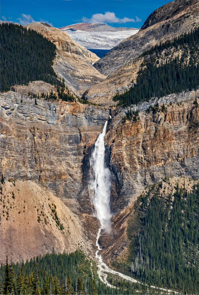 Takakkaw Falls and Daly Glacier
